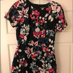 French Connection Floral Short Sleeve Dress